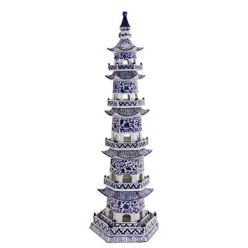 RZPI42_ Chinese ancient times pure hand made ceramic decorative pagoda
