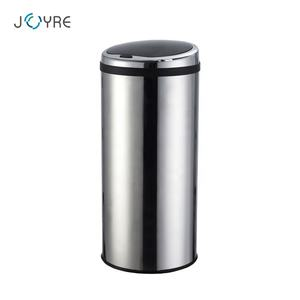 High quality 50L 13 gallon round sliver color large one touch trash can
