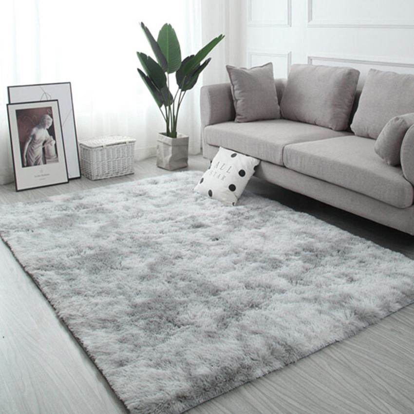 anti-slip rug soft silky smooth synthetic carpet for bedroom shaggy carpet