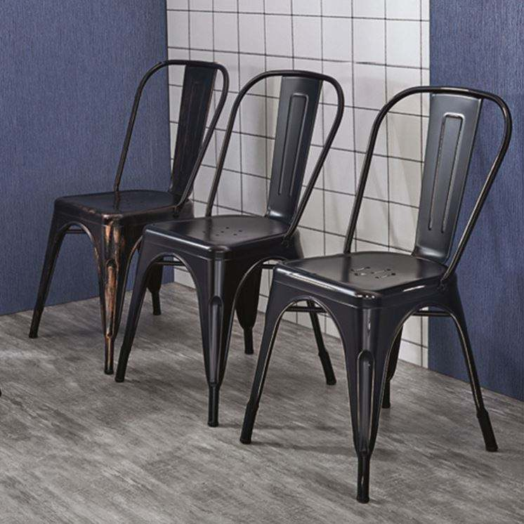 Muebles de diseño Simple Silla de metal Cafe restaurante muebles de metal moderno restaurante silla