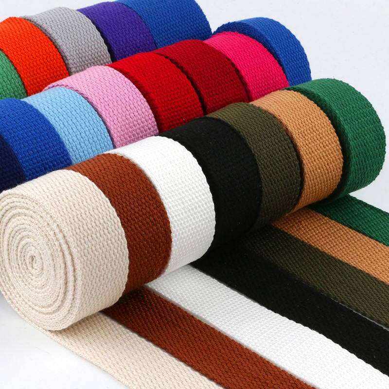 Eco-friendly wholesale Bag Twill Strap Soft Woven 100% Cotton Tape