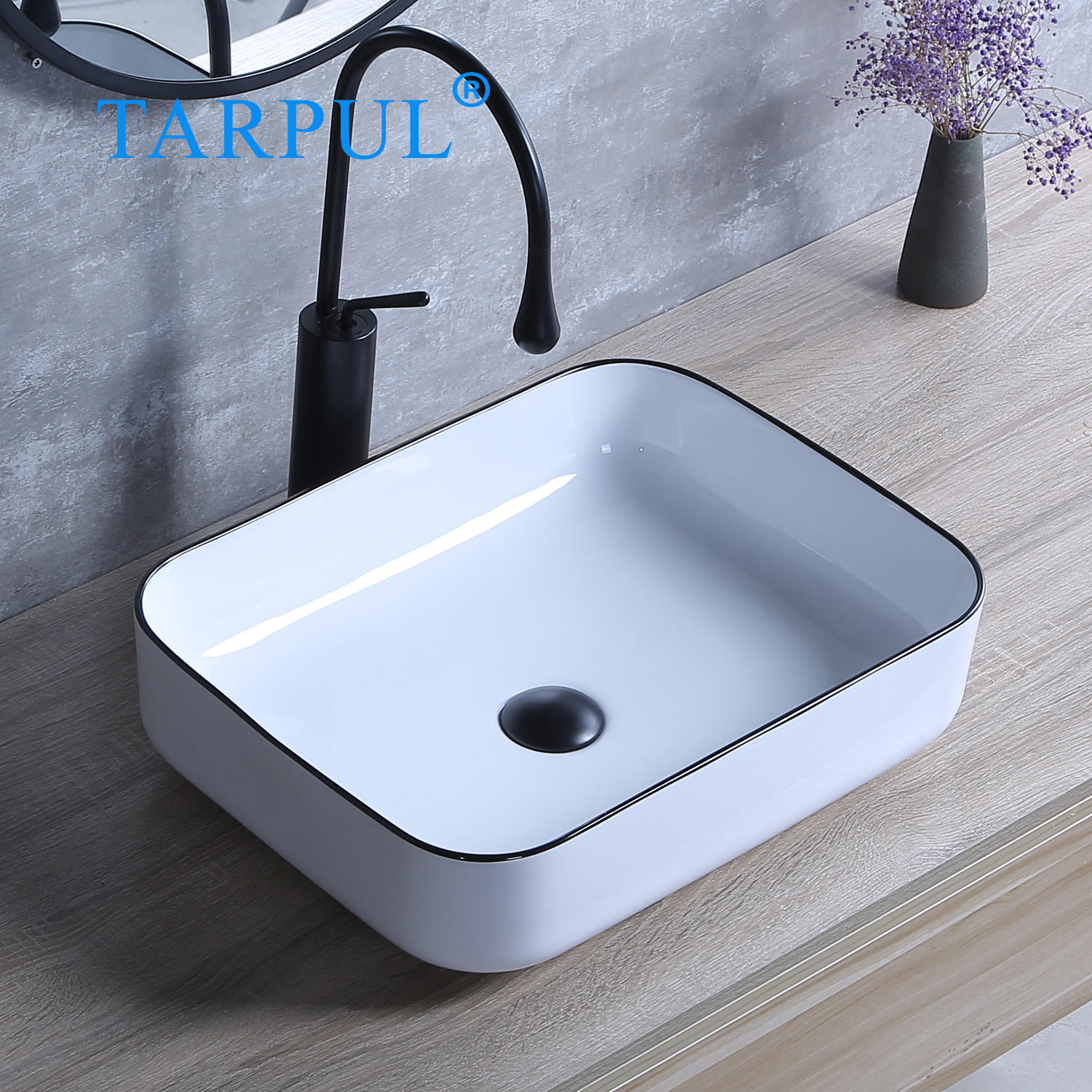 Above Counter Install Mounting Modern Design Ceramic Sink Basin Bathroom Sinks