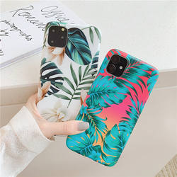 Green leaves and flowers phone case for iPhone 11 Pro Anti-fall XS MAX 8 plus 7plus  cases
