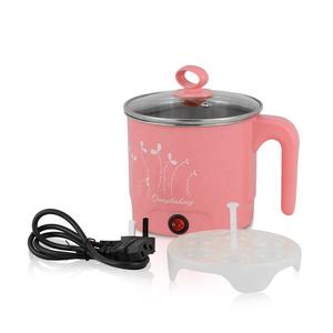 Multi-function Portable Travel Egg Steam Noodle Pot Stainless Steel Mini Electric Rice Cooker
