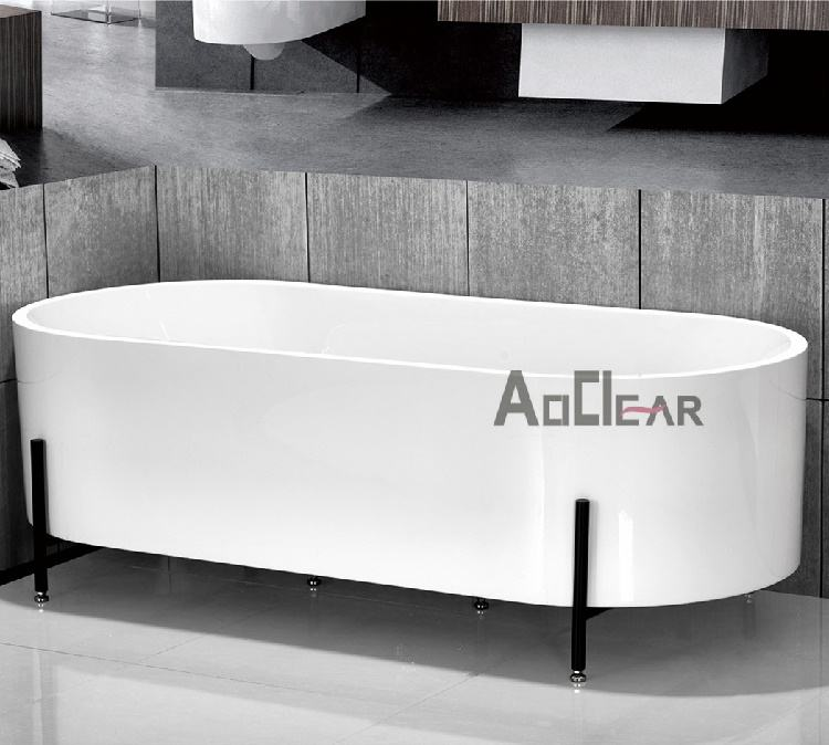 Single White Woodbridge Surrounds Insulated High End Bathroom Tubs 4 Foot Free Standing Jetted Bathtubs For Sale With Legs