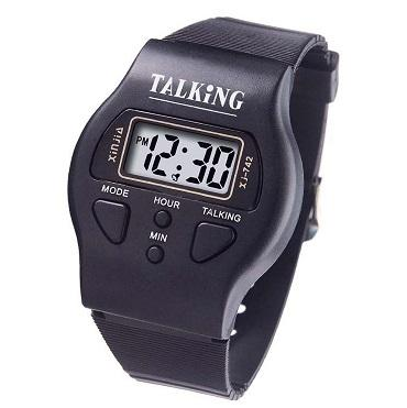 xinjia hot selling talking watches custom logo digital talking watch instructions blind watch