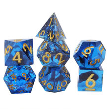 Custom Razor Sharp Edge Precision Polyhedral Dice for Dragon and Dungeon Board Game