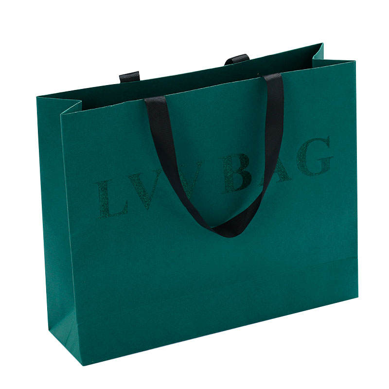 Custom Wholesale Fashion Elegant Paper Shopping Gift Bag with Logo