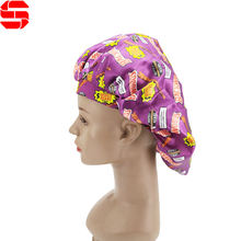 Wholesale Adult baby kids Satin Hair Bonnet cap for sleeping