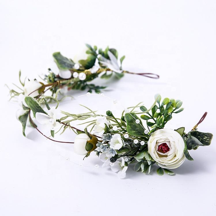 GIGA bridal floral artificial wreath supplies wholesale decorative flowers wreaths