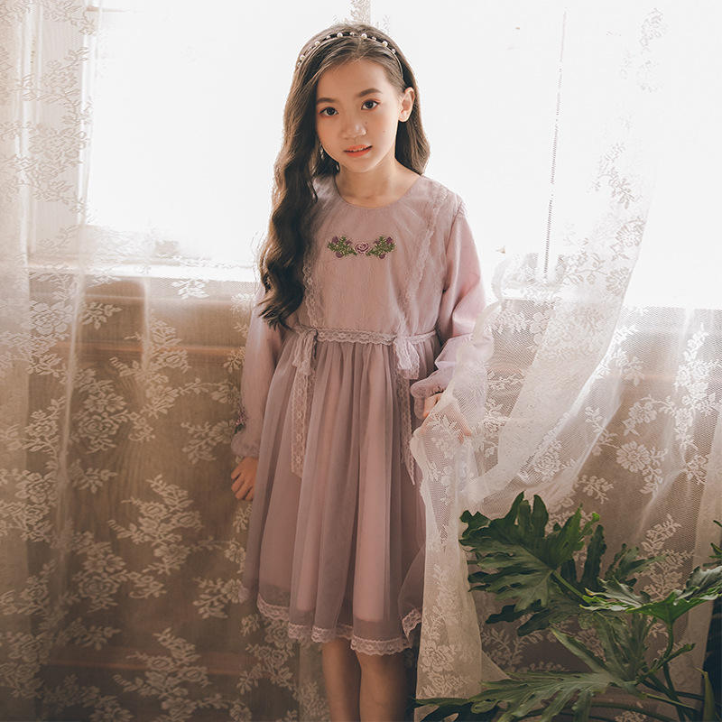 Long Sleeve Dress For Girls Clothing Baby Girl Clothing Teenager School Daily Wear Kids Casual Clothes Beautiful Dress Princess