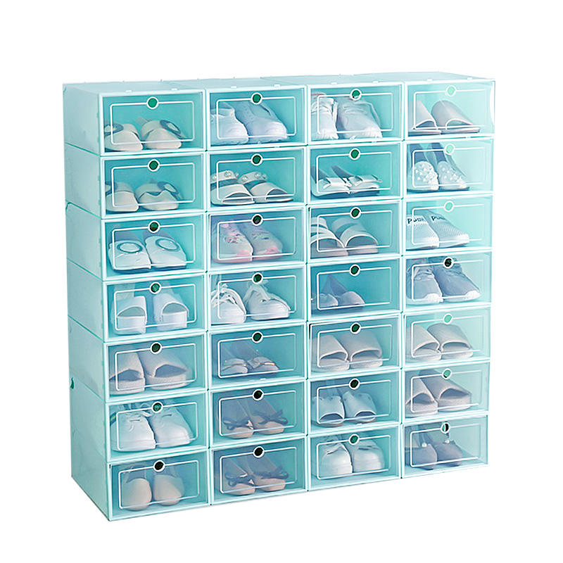 Hot Selling Custom Clear Plastic Shoes Boxes Storage For Home, Household Shoes Racks Cabinet Wholesale Shoes Storage Organizer