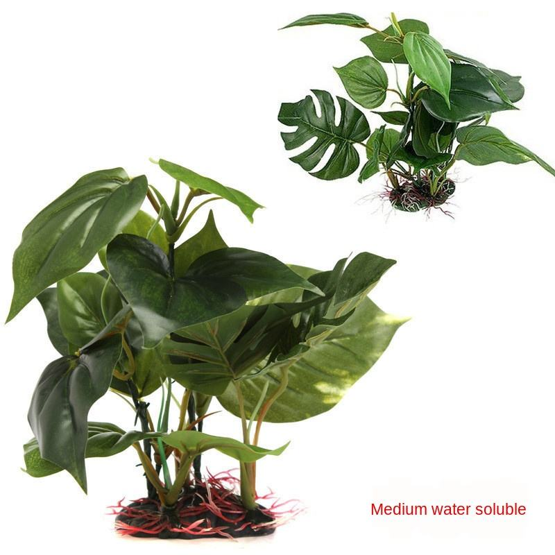 Reptile Box Artificial Plants Aquatic Plants Artificial Ornaments Fish Tank Landscaping Ornamental Plants Water Soluble Leaves ich
