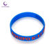 Bracelets Silicone Fundraiser Bracelets Silicone Wristbands Embossed With Color Printing Logo For Gift/Advertising/Promotional