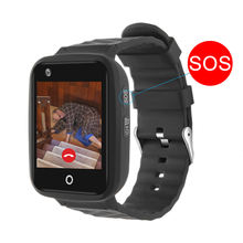 4G waterproof camera touch screen Heart Rate SOS tracker kids  baby senior phone gps watch