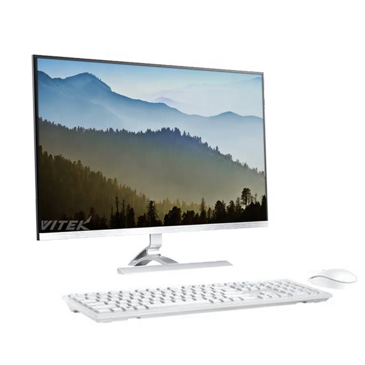 OEM AIO PC 21.5 Inch I5 4+128GB SSD Desktop Computer Gaming Coffee Display All In One Table