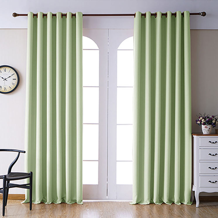 Hotel ready made curtains Luxury Jacquard fabric living room Window Curtains Backing Valance
