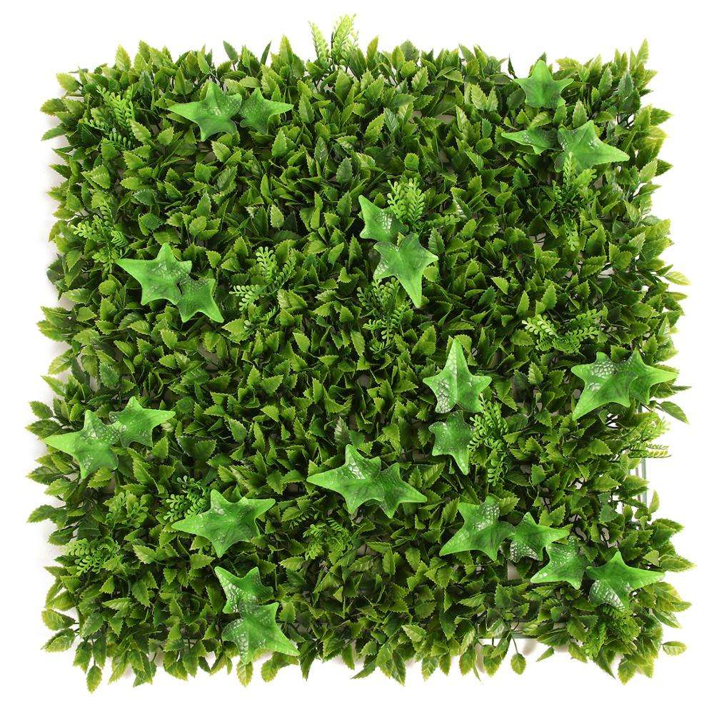 Artificial green wall panel artificial hedge wall artificial ivy leaf privacy fence screen for fence