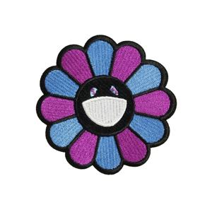 Customized small Colorful flower applique Design Embroidered Patches with iron on