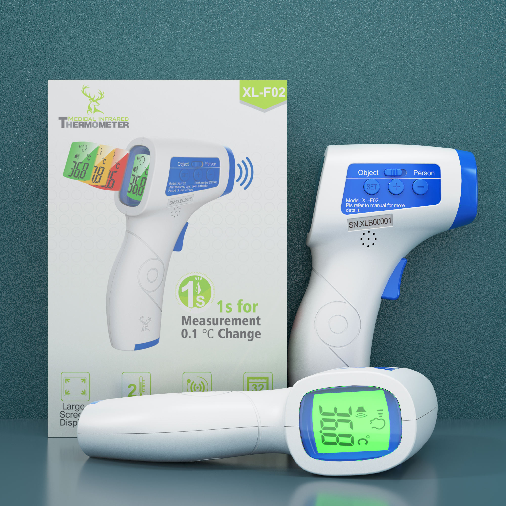 Hot Sell Digital Digital Non Contact Infrared Forehead Thermometer