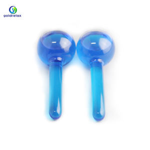 Hot Selling Groothandel Factory Wave Massage Bal Zomer Koeling Facial Blue Ice Globes