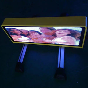 Waterproof Double Sided Advertising LED Display P5 Car Taxi Led Sign Bus Rear Window LED Display Screen