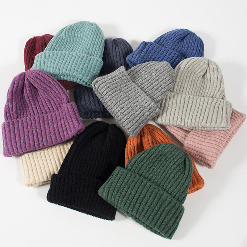 Wholesale Customized Cashmere Knitting Slouch Beanie Baggy Hats