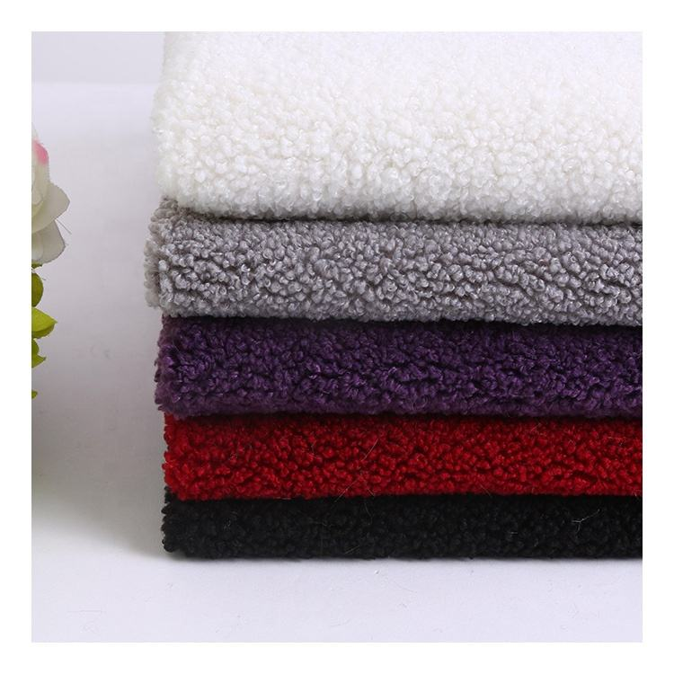 High Quality 100 Polyester Teddy Bear Fur Sherpa Fleece Fabric