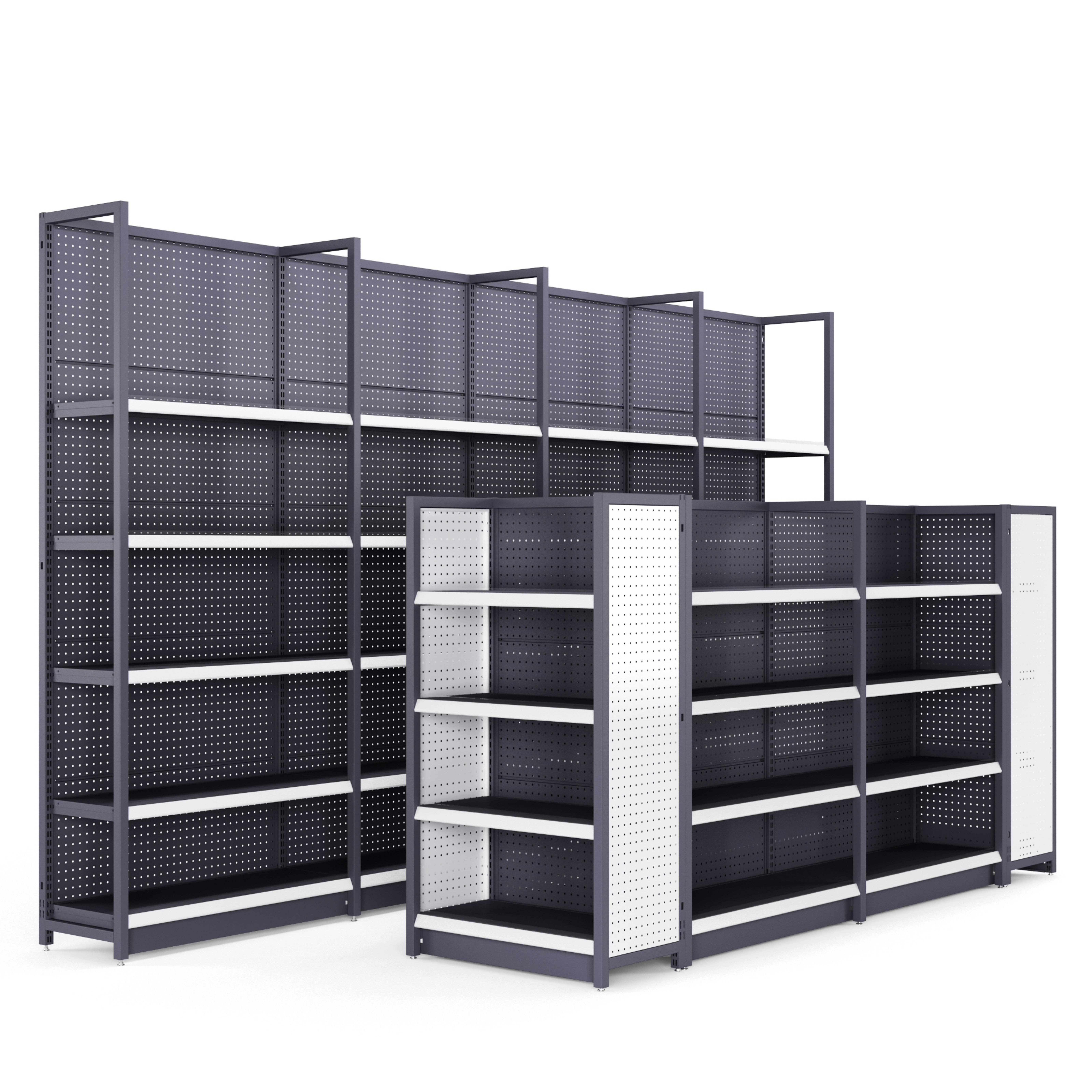 <span class=keywords><strong>Étagère</strong></span> de rangement en métal 20 pièces, supports de supermarché lourds, réglables, pour le stockage des cargaison