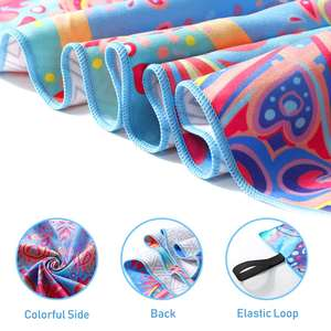 Custom made fashion sand free microfiber quick dry beach towel double side sublimation printed