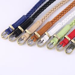 New Design Braided Women Belts Fashion PU Leather Belts