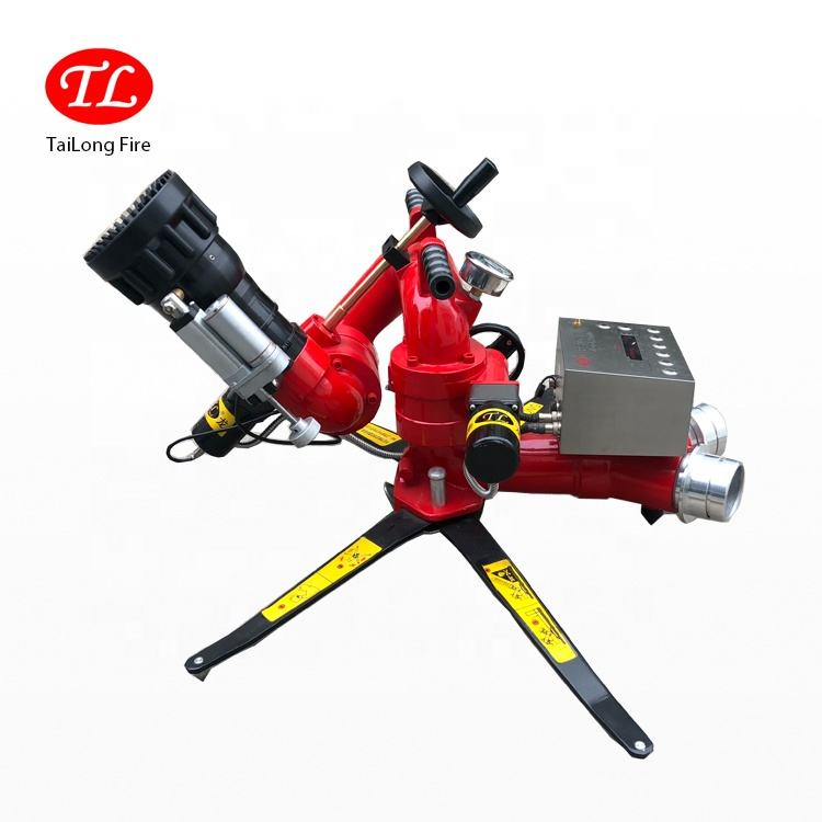 TL Factory Sales Movable High Flow Long Range Remote Control Fire Fighting Water Monitor/Water Cannon