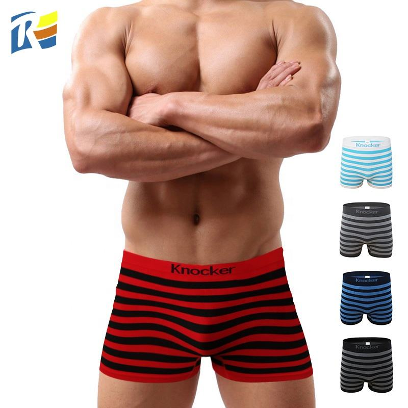 Multi Colors Fashion Seamless Nylon Tight Red Men Boxer Briefs Solid Boxer Shorts Underpants Man Underwear