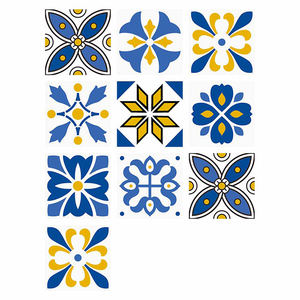 Amazon waterproof European retro tile stickers bathroom kitchen DIY mosaic creative blue tile wall stickers