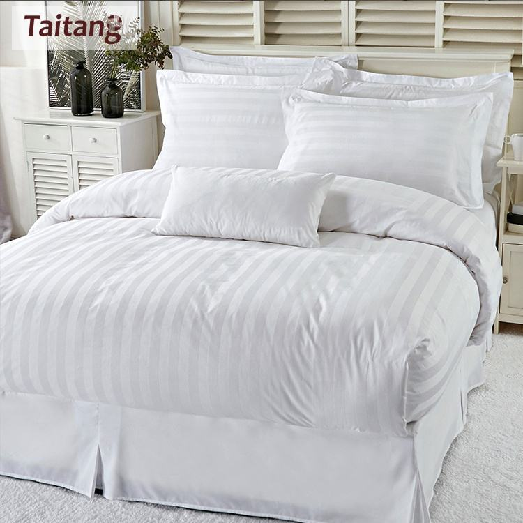 Taitang OEM Hot Sale 100 Cotton Bed Linen Bedding Set For Wholesale