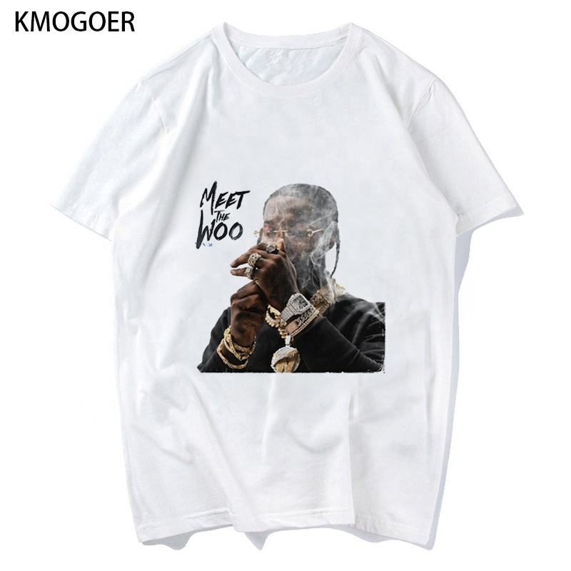 Rapper Rip Pop Smoke Printing T-Shirt Exquisite Pattern T Shirt Clothing Manufacturers Fashion Korean Men Women Mens T Shirt