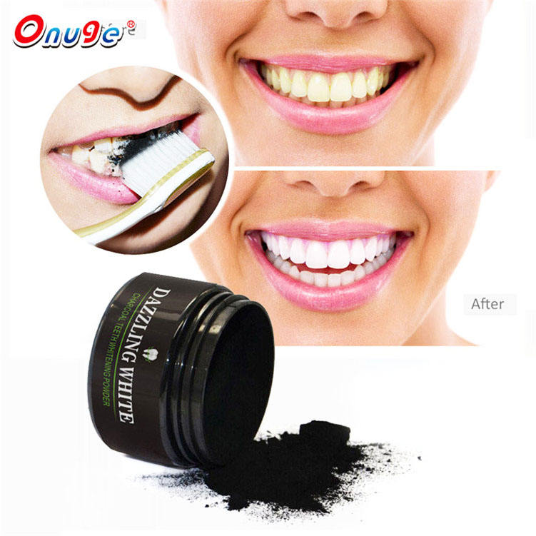 Organic Activated Charcoal Teeth Whitening Powder custom logo tooth powder