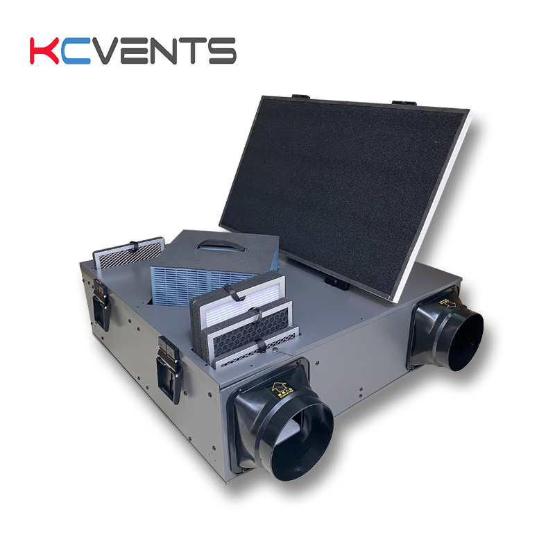 Kcvents 6Inch Air <span class=keywords><strong>Recuperator</strong></span> Warmteterugwinning Ventilator <span class=keywords><strong>Erv</strong></span> Systeem