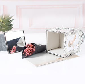 music box with photo frame rotate picture frame with love