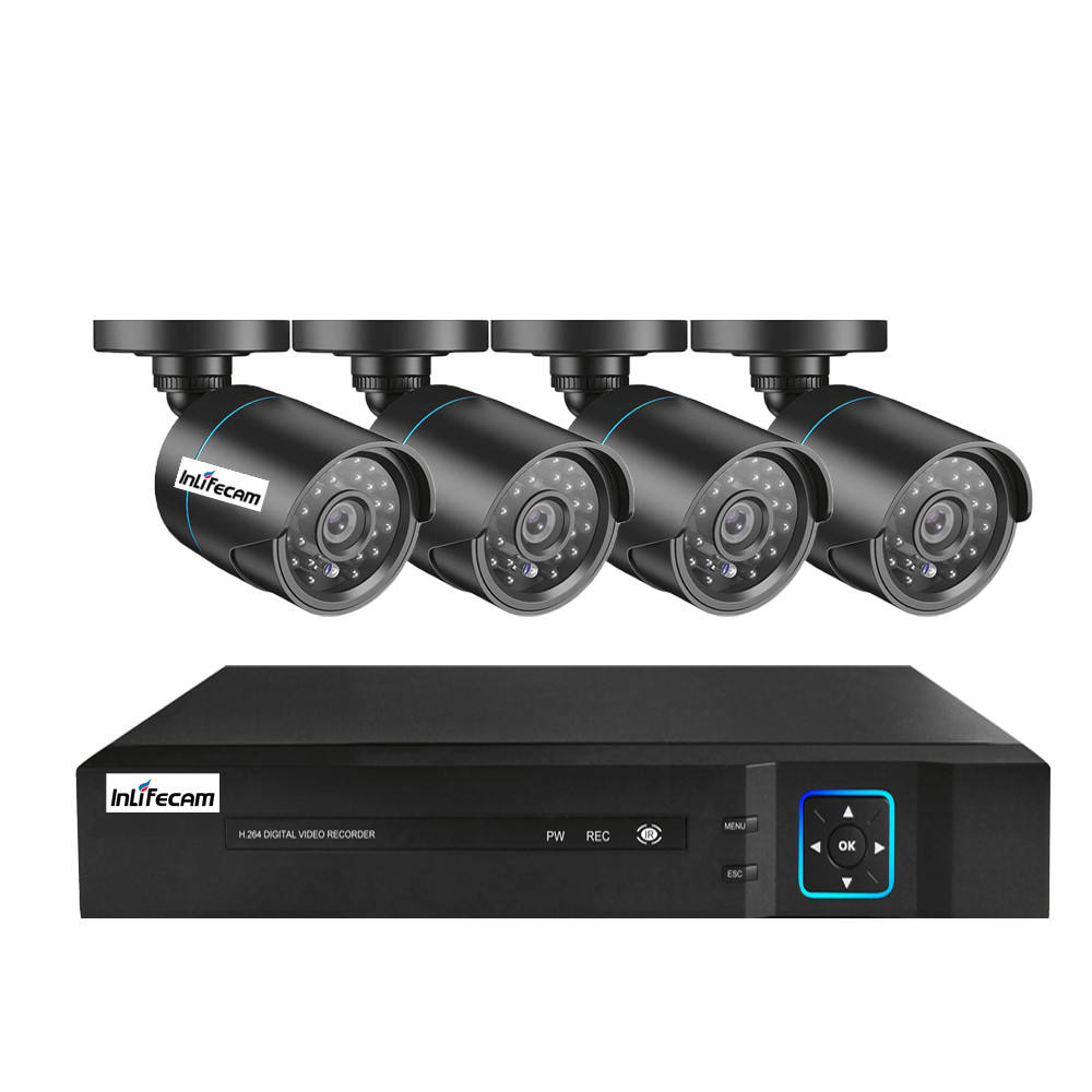 4CH AHD DVR Security System 1080P AHD Waterproof Outdoor CCTV Camera 1080P 2.0MP Night Vision AHD Surveillance Kit