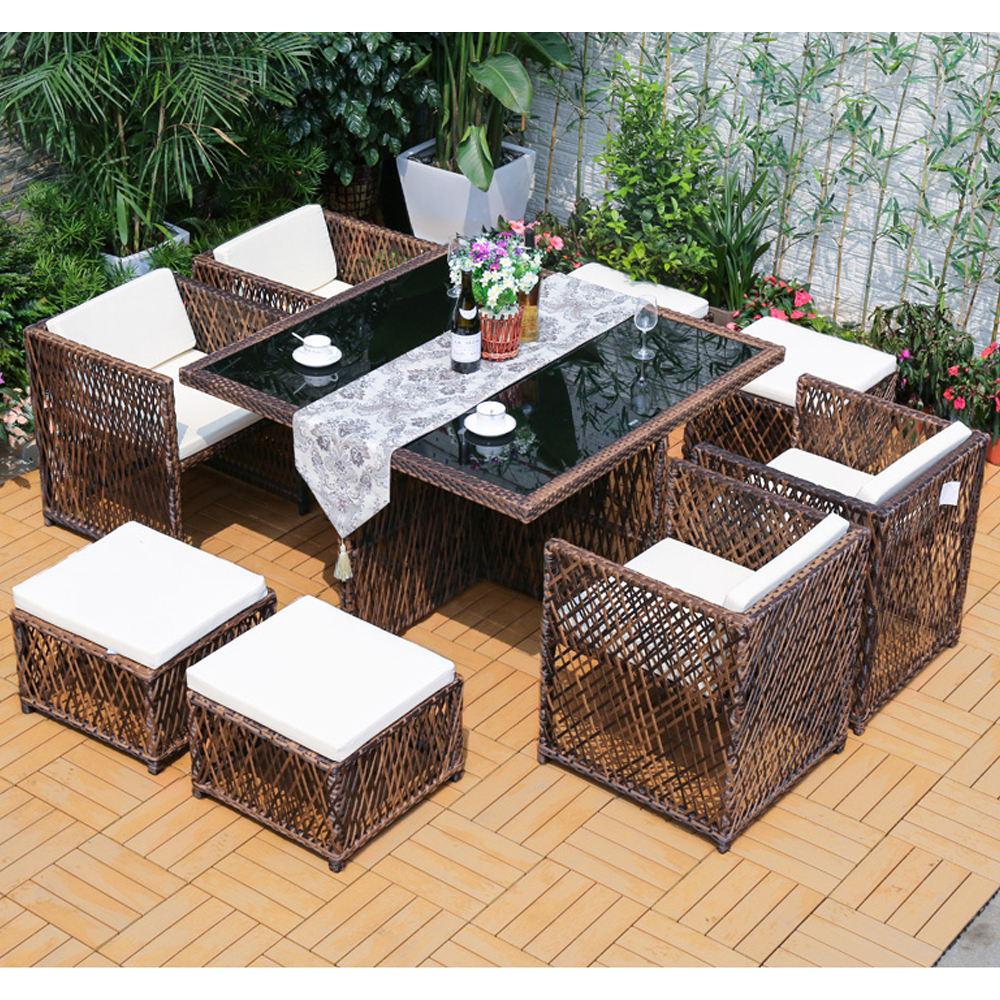 Venta al por mayor patio de <span class=keywords><strong>ratan</strong></span> de mimbre muebles al aire libre se café silla y superior de cristal de la mesa de centro