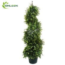 Hot seller Grass Plant Artificial Cypress Boxwood Spiral Topiary Tree