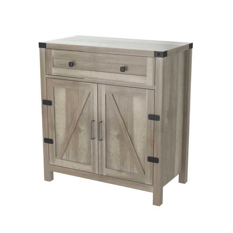 New modern wood gray oak kitchen buffet cabinet living room furniture sideboard with drawer
