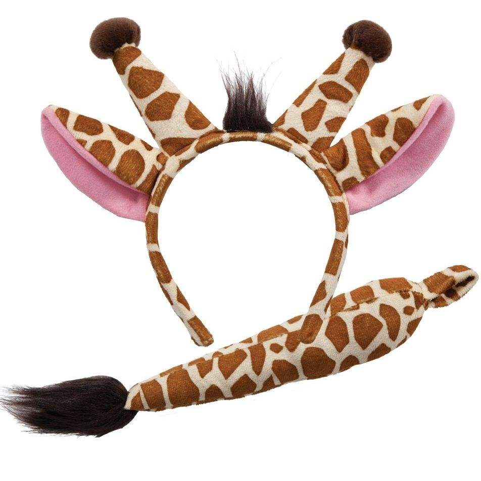 Christmas Hair Band Giraffe Ears Tail Set Animal Fancy Accessory Zebra Costume Kit Headband