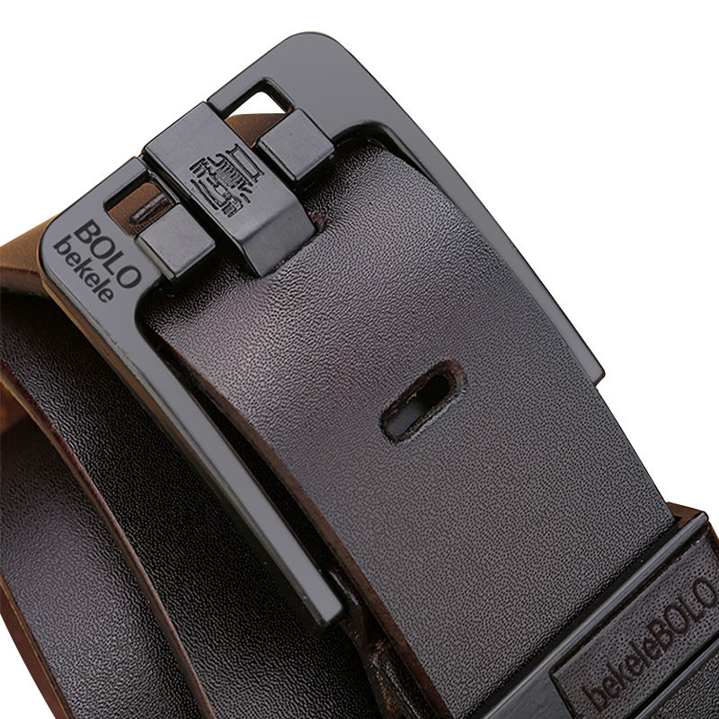 Custom Logo Men Classic Vintage Pin Buckle Color Vegan Leather Belts