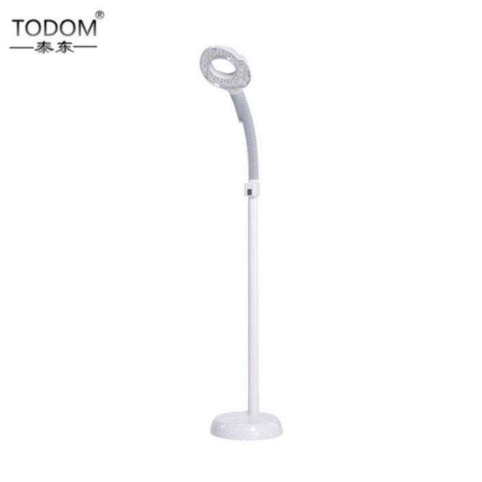 Customized sale popular adjustable beauty salon head beauty light led facial 10x magnifier stand esthetician magnifying lamp