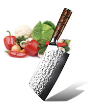 Durable Knife Stainless Steel Blade Red Wooden Handle Cleaver Knife