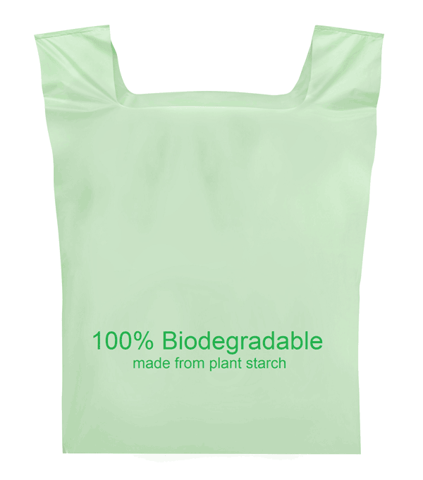 Logo design PLA Cornstarch made 100% biodegradable compostable plastic bags