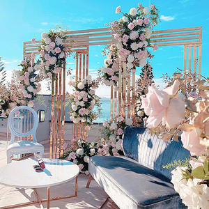 Iron Modern Decoration Golden Wedding Backdrop