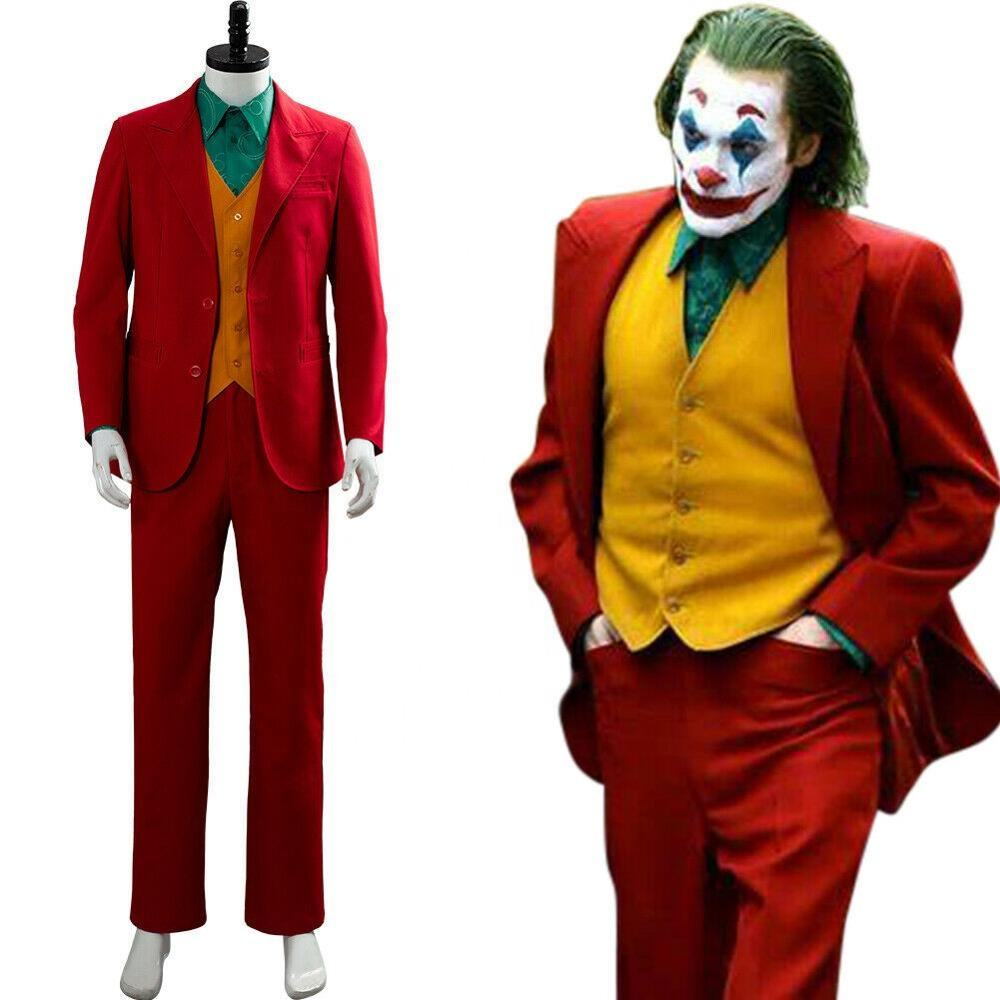2019 film Joker Clown Joaquin Phoenix Arthur Fleck Cosplay tenue déguisement carnaval Costume Halloween pour adulte